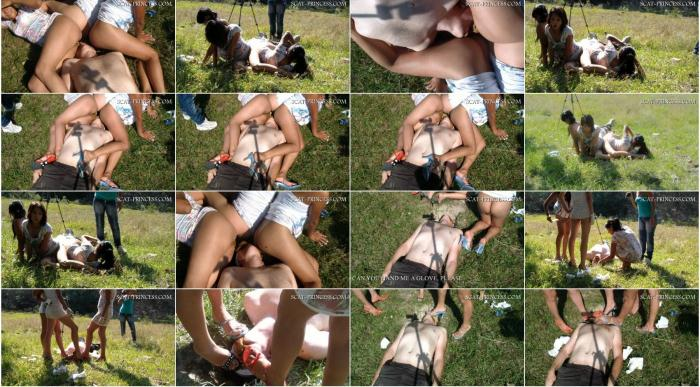 (Melania) - Girls Bully His Slave In Public Forced To Eat Shit [HD 720p] (1.33 GiB)