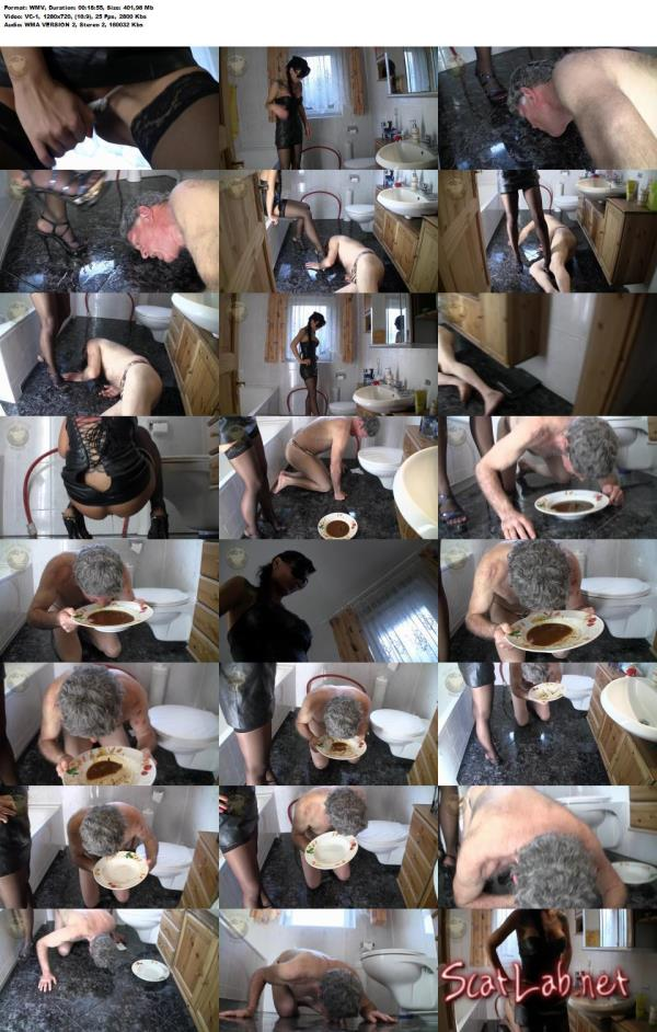 Scat-Movie-World: (Lady Chantal) - Scat and pee dinner [HD 720p] (401,98 Mb)