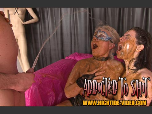 Hightide-Video: (Models: Gina, Ingrid, 1 Male) - ADDICTED TO SHIT [SD] (1.20 GB)