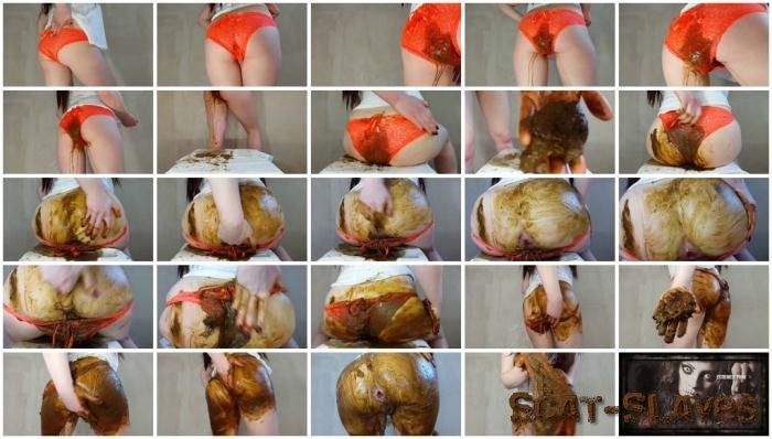 Panty Scat: (Anna Coprofield) - Orange Panties [FullHD 1080p] (1.15 GB)