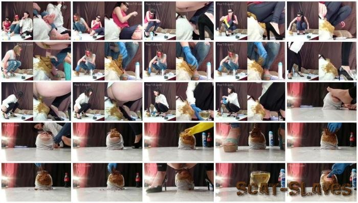 Femdom Scat: (Smelly Milana) - 3 girls used the toilet slave [FullHD 1080p] (3.04 GB)