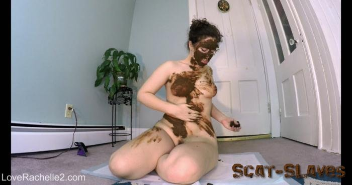 Solo Scat: (LoveRachelle2) - Stinky SHIT Mask! Eating, Smearing and Cumming [4K UltraHD] (1.75 GB)