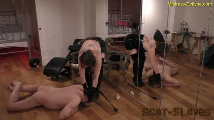 Latex Scat: (MistressEvilyne) - Feeding Time [FullHD 1080p] (1.21 GB)