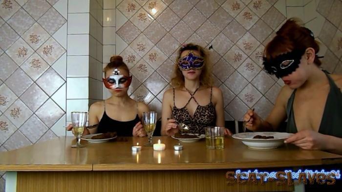 Scat Threesome: (ModelNatalya94) - Three girls eating their own shit [FullHD 1080p] (836 MB)