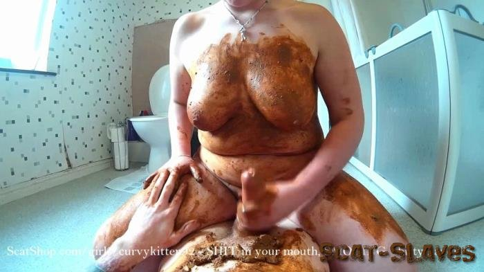 Extreme Scat: (Curvykitten92) - SHIT in your mouth, SMOKING, shitty handjob [FullHD 1080p] (1.36 GB)