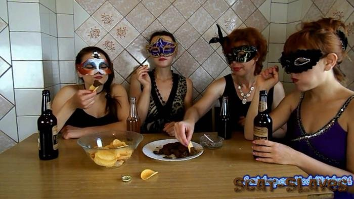 Threesome Scat: (ModelNatalya94) - The morning Breakfast the four girls [FullHD 1080p] (1.19 GB)