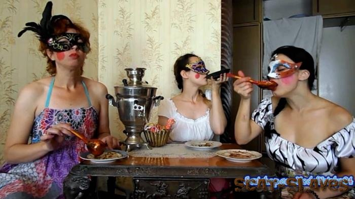 Stars Scat: (ModelNatalya94) - Three friends eat their own shit [FullHD 1080p] (1.10 GB)