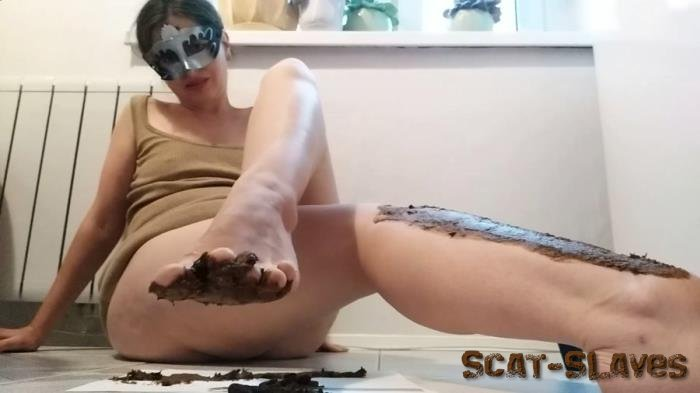 Foot Scat: (NastyGirl) - Pooping and smearing poo with foot [FullHD 1080p] (1.24 GB)