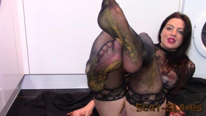 Shit In Pantyhose: (evamarie88) - Leather Boot Scat Worship [FullHD 1080p] (1.49 GB)