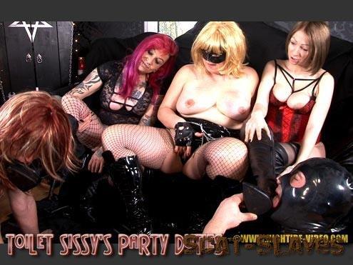 Hightide-Video: (Miss Kelly, Miss Pia, Miss Naomi, 2 Sissy Slaves) - TOILET SISSY'S PARTY DUTIES [HD 720p] (1.10 GB)