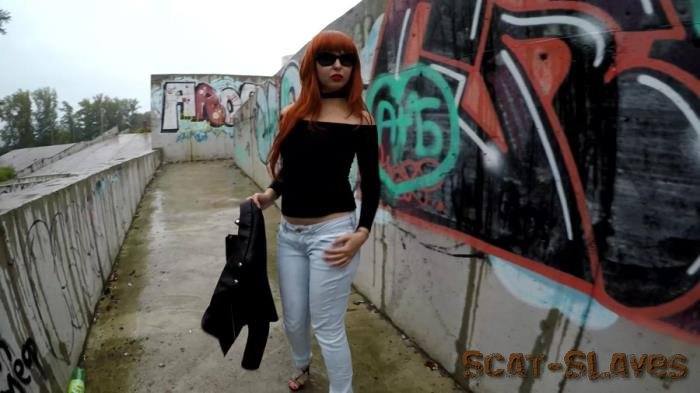 Outdoor Scat: (janet) - Pooping in Public Place with Graffiti [UltraHD 4K] (1.31 GB)