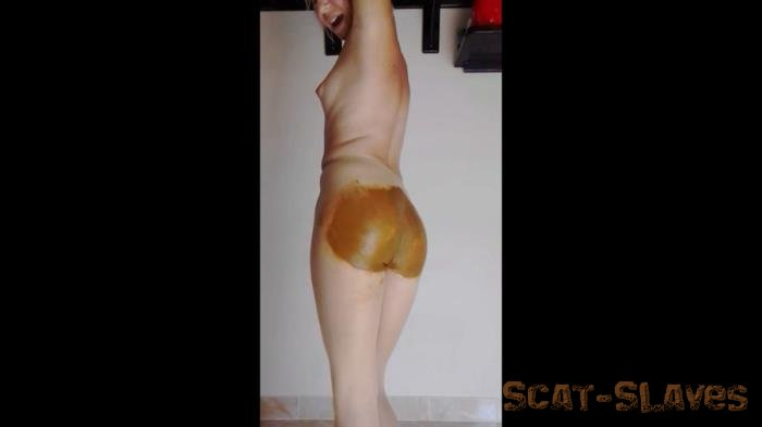 Big Farting Girls: (MissAnja) - Monster Poo Filling My Nude Pantyhose Ass Smearing [HD 720p] (613 MB)