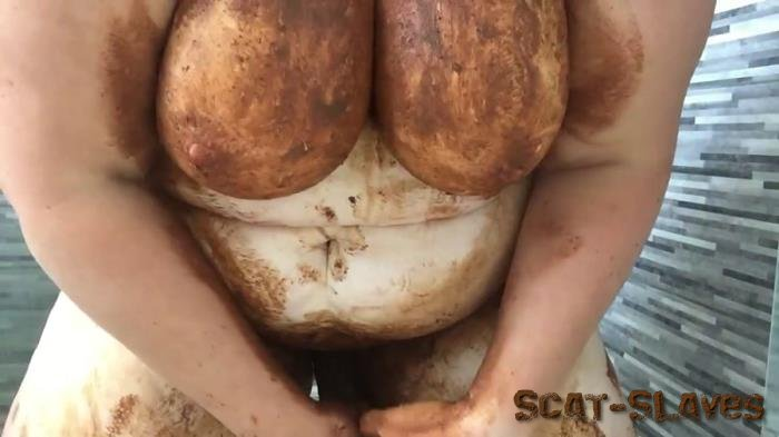 Masturbation: (Boobs Scat) - A very dirty girl in brown leggings [FullHD 1080p] (833 MB)