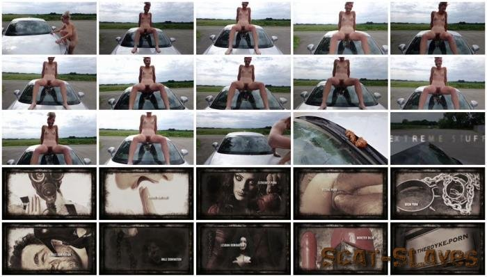 Outdoor Scat: (Versauteschnukkis) - Shit and piss in public on a car [FullHD 1080p] (250 MB)