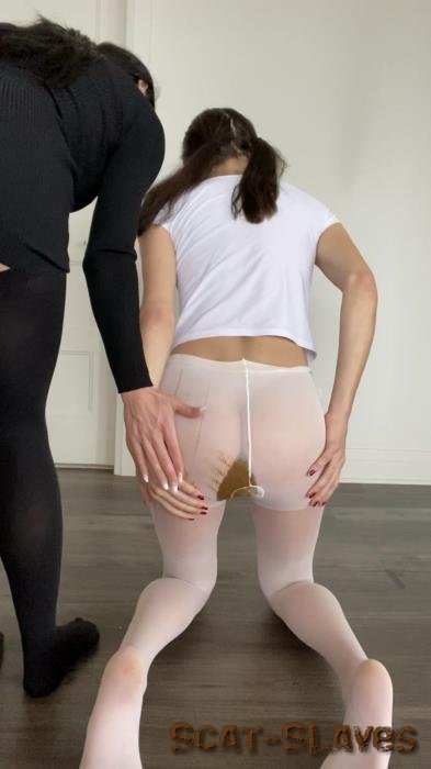 Shit In Pantyhose: (TheHealthyWhores) - Shitting myself inside white pantyhose [UltraHD 2K] (135 MB)